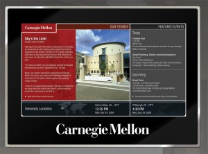 University recognition display - Carnegie Mellon