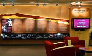 Donor wall with interactive multimedia presentation at Presbyterian Hospital Foundation