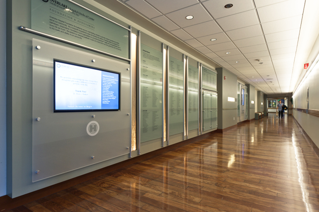 Hospital Donor Wall With Interactive Donor Recognition