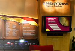 Presbyterian Healthcare Foundation. Integrated Donor Wall Design. Fabrication and Installation